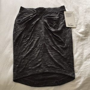 Yoga Haven Skirt heather charcoal gray